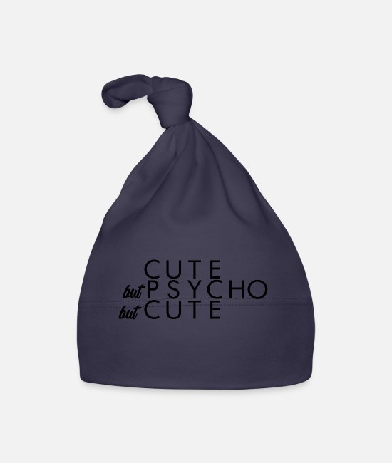 Pick Up Line Baby Caps - Cute but psycho but cute - Baby Cap navy
