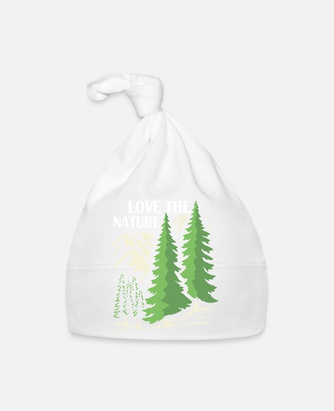 Mountains Baby Caps - Love nature mountains hiking gift idea - Baby Cap white