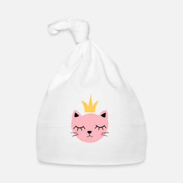 Pink cat with crown - Baby Cap