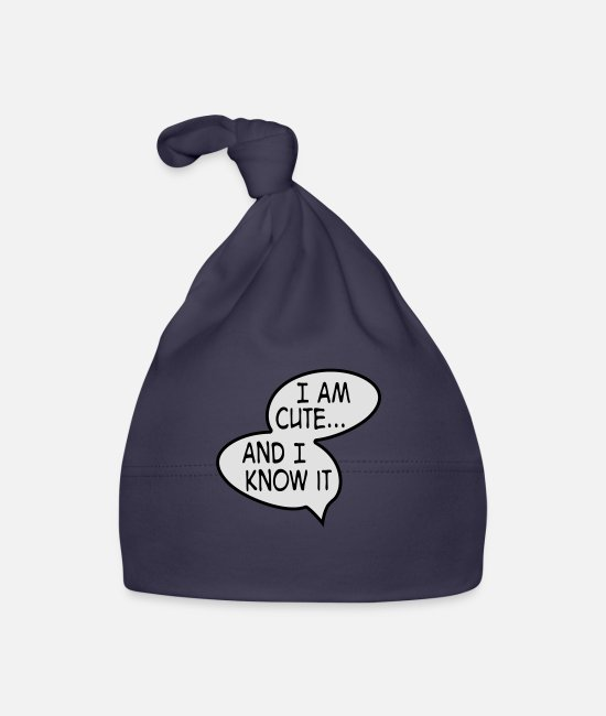 Newborn Baby Caps - cute - Baby Cap navy