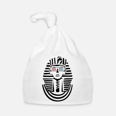 Pharaoh in black and white with 3D glasses - Baby Cap