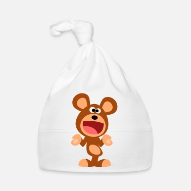 Le Sourire Shrugging Cartoon Bear by Cheerful Madness!! - Baby Cap