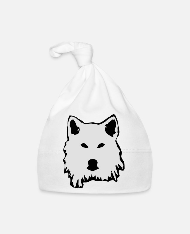 Animals Baby Caps - wolf - Baby Cap white
