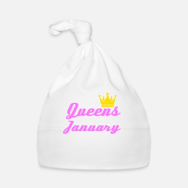 Date Of Birth January Queen Crown Woman Girl Saying Gift - Baby Cap