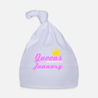Geboren Januari Queen Crown Woman Girl Saying Gift - Baby muts