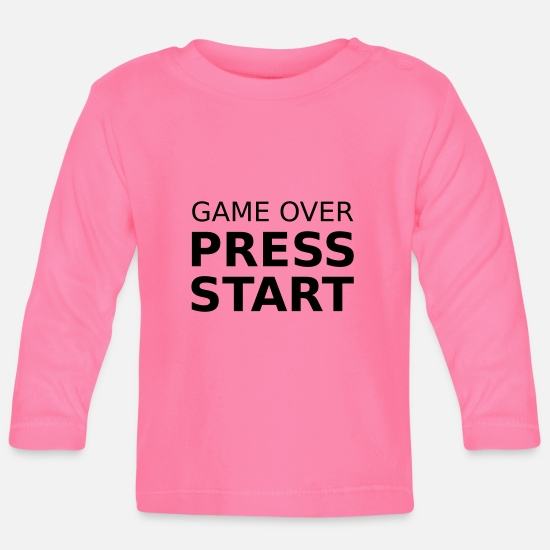 Spiel Babykleidung - Game Over Press Start - Baby Langarmshirt Azalea