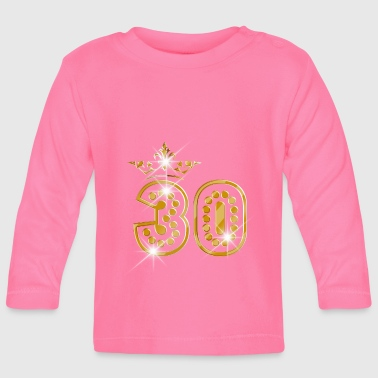 30 - Birthday - Queen - Gold - Burlesque - Baby Langarmshirt