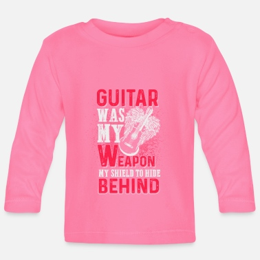 Was Guitar was my weapon - EN - T-shirt manches longues Bébé