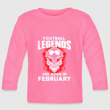 February - Birthday - Football - Legend - EN - Langærmet babyshirt