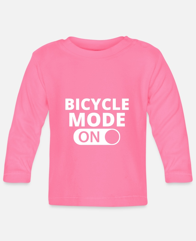 Modellflug Baby Langarmshirts - MODE ON BICYCLE - Baby Langarmshirt Azalea