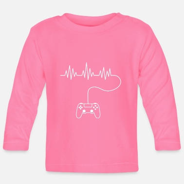 Ps Gamer | PS | Controller | cool ontwerp - Baby longsleeve