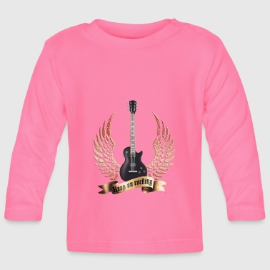Heavy Metal guitars_and_wings_032014_d - Baby Langarmshirt