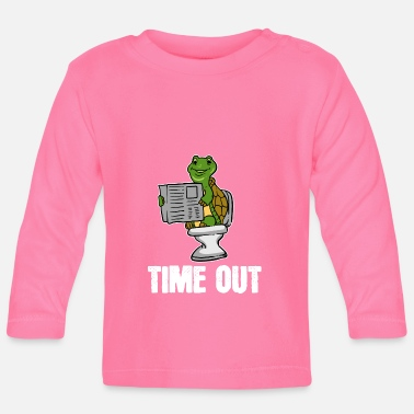Klo Schildpad, dier, time-out, krant, toilet, cadeau, loo - T-shirt
