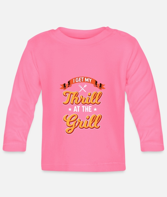 BBQ Baby Long-Sleeved Shirts - Beer BBQ Grill BbQ Barbecue Meat Gift - Baby Longsleeve Shirt azalea