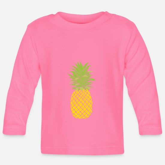Pigskin Baby Clothes - Retro Fruit Cool Pineapple Graphic Tshirt Summer - Baby Longsleeve Shirt azalea