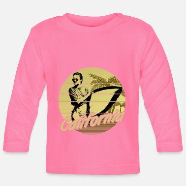 Los Angeles California Surfergirl Geel - Baby longsleeve