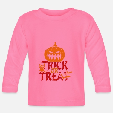 Trick Or Treat Trick or Treat bij Halloween - trick or treat - Baby longsleeve
