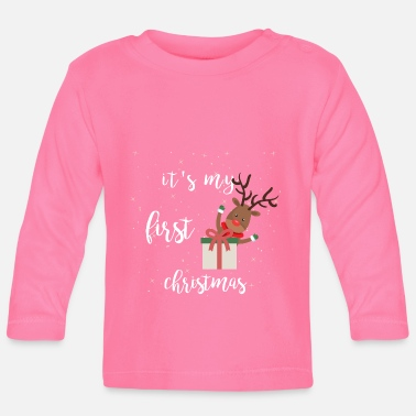 Weihnachten it's my first christmas - Baby Langarmshirt