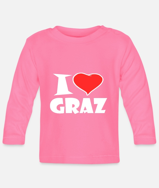 Love Baby Clothes - I love Graz - Baby Longsleeve Shirt azalea