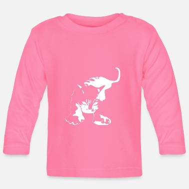 Aggressiv Cat Aggressive Attacking - Långärmad baby T-shirt
