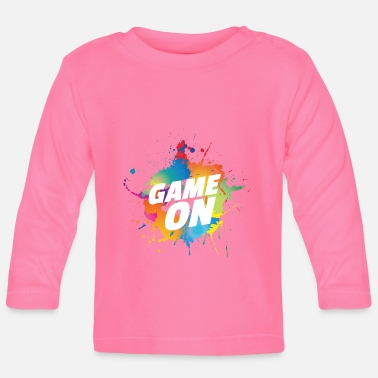 Game Over ShirtActs Game on - Langarmet baby T-skjorte