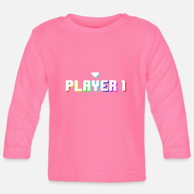 Maus Gamer Player 1 - Baby Langarmshirt