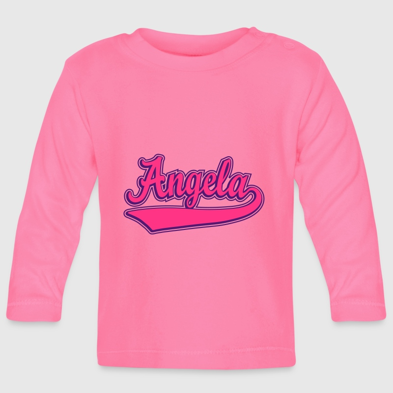 Angela - Name as a sport swash. - Baby Long Sleeve T-Shirt