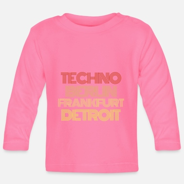 Kunstenaar Techno Muzikant Music Synthesizer keyboard - Baby longsleeve
