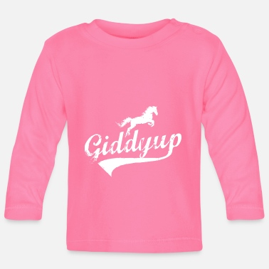 Springconcours Giddyup paardrijden springconcours - Baby longsleeve