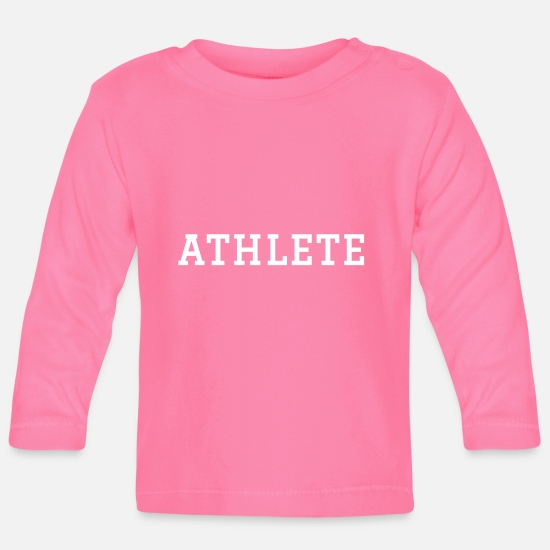 Stylish Baby Clothes - Athlete - Baby Longsleeve Shirt azalea