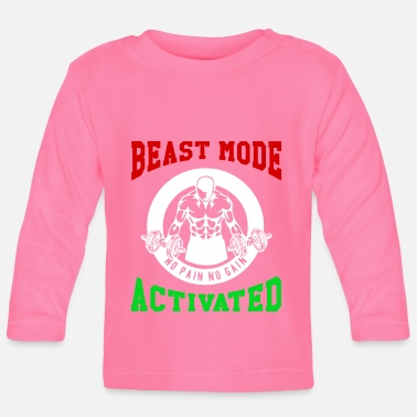 Biest Beast Mode Activated 2 Bodybuilder Fitness Gym - Baby Longsleeve Shirt