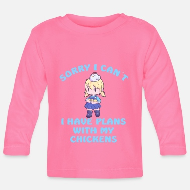 Fasan Sorry I Can´t I Have Plans With My Chickens - Baby Langarmshirt