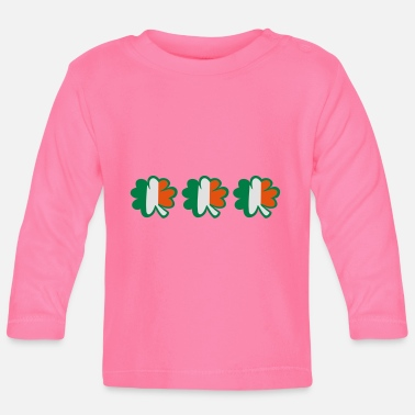 Kiss Underwear ♥ټ☘Kiss the Irish Shamrocks to Get Lucky☘ټ♥ - Baby Longsleeve Shirt