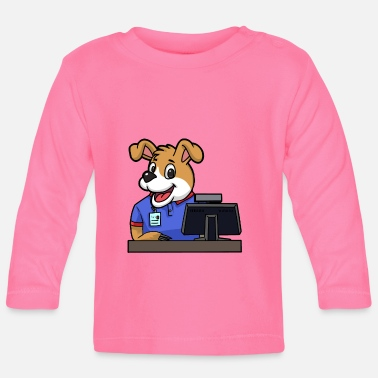 Police A dog in office occupations work job official - Baby Longsleeve Shirt