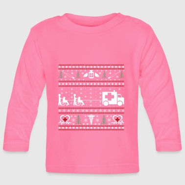 Nurse - ugly Christmas - Baby Long Sleeve T-Shirt
