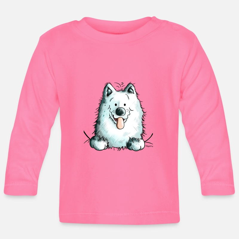 Animal Baby Clothing - Cute Samoyed Dog - Baby Longsleeve Shirt azalea