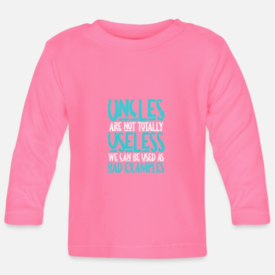 Uncle Baby Clothes - uncle - Baby Longsleeve Shirt azalea