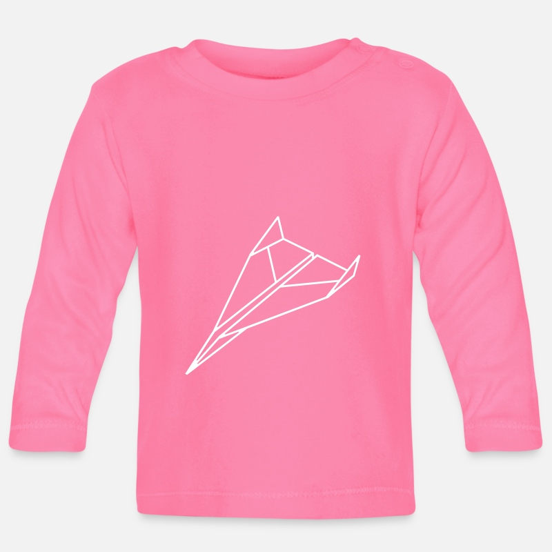 Bestsellers Q4 2018 Baby Clothing - paper_ plane_a1 - Baby Longsleeve Shirt azalea