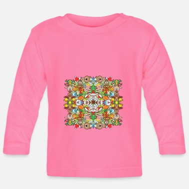 Symmetry Mirroring The Christmas crowd is having a great time - Baby Longsleeve Shirt