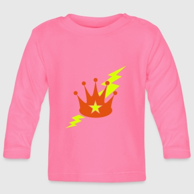 crown with a lightning bolt - Baby Long Sleeve T-Shirt