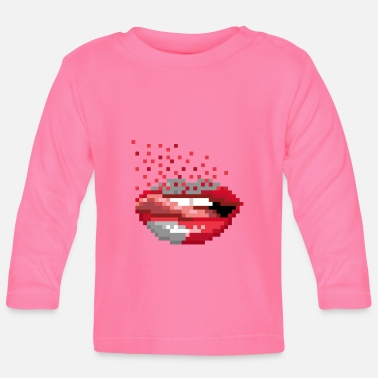 Retro Pixel Mouth Retro - Camiseta de manga larga bebé