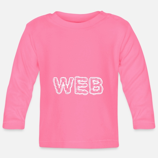 Website Baby Clothes - web - Baby Longsleeve Shirt azalea