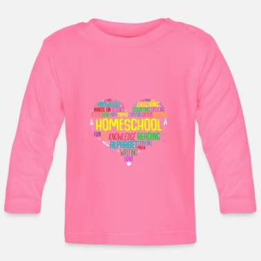 Third Heart Word Cloud Homeschool Quarantine Teacher - Baby Longsleeve Shirt