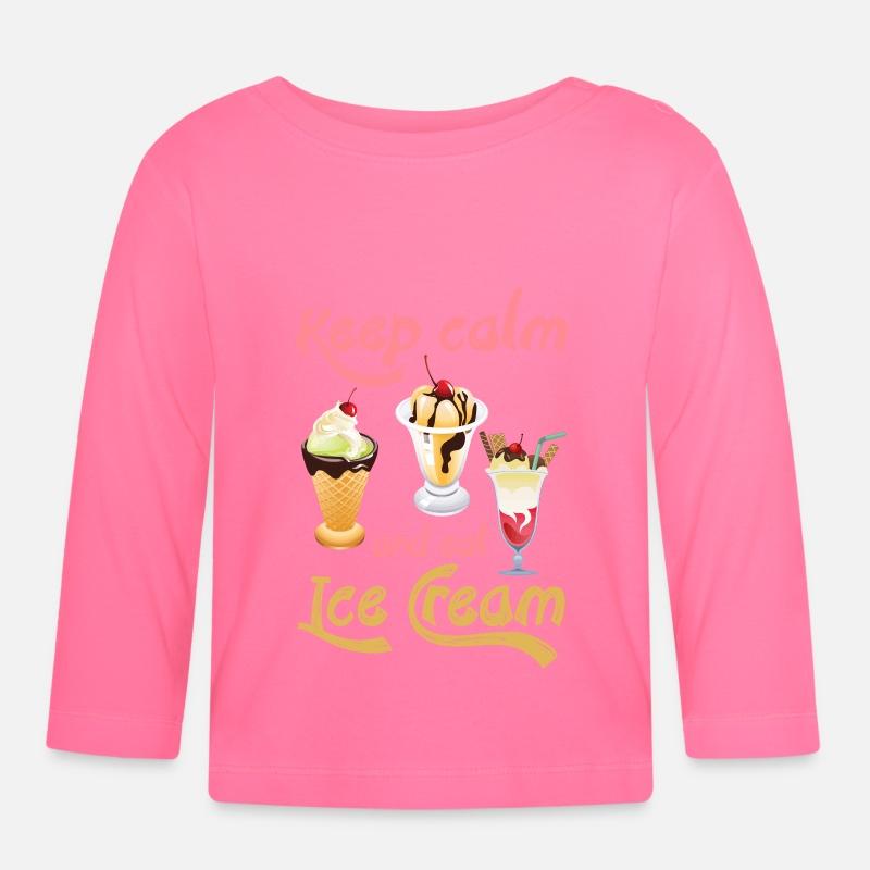 Keep Calm And Eat Ice Cream Baby Longsleeve Shirt Spreadshirt