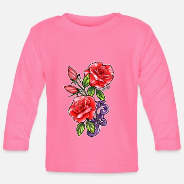 Red Rose Red Roses - Baby Long Sleeve T-Shirt