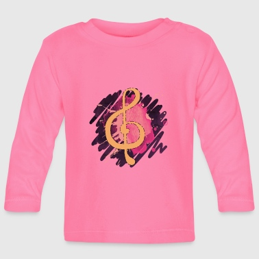 Illustration Clef illustration - Långärmad T-shirt baby