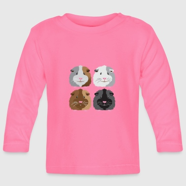 four guinea pigs cute - Baby Long Sleeve T-Shirt