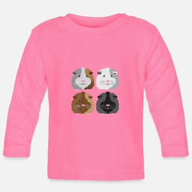 Guinea Pig four guinea pigs cute - Baby Long Sleeve T-Shirt