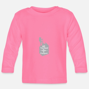 ID card - travel - desire to travel - experience - Baby Longsleeve Shirt