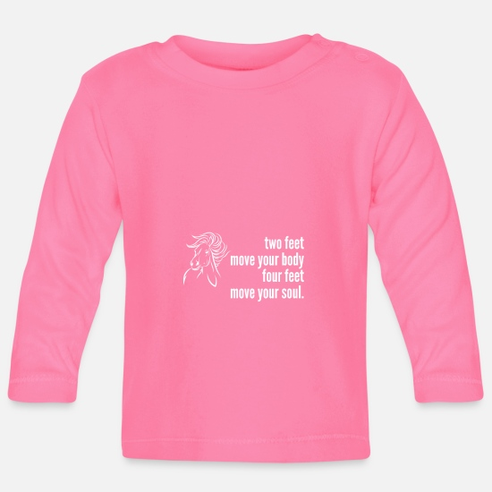 Gift Idea Baby Clothes - Body soul horse rider riding recreation spirit - Baby Longsleeve Shirt azalea